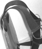 Rebreather-Backplate heavy-weighted 6,6kg / 6mm  (14.5lbs / 0.24 inch)